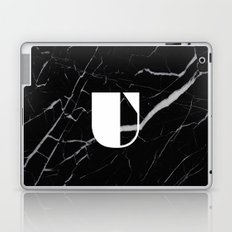 Black Marble - Alphabet U Laptop & iPad Skin