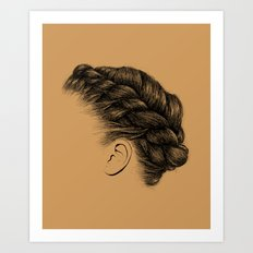 Crown: Braided Crown Art Print