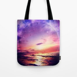 Neon Beach Tote Bag