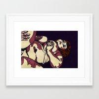 "jenna kutcher Framed Art Prints featuring ""Jenna"" by CRD Larson"