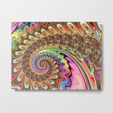 BBQSHOES: Fractal Spirit Spiral Metal Print