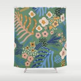 Flowers' whisper  Shower Curtain