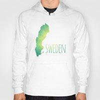 sweden Hoodies featuring Sweden by Stephanie Wittenburg