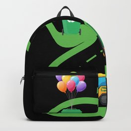 2 Year Old Garbage Truck 2nd Birthday Backpack