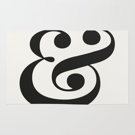 Ampersand - Light and Delicate - Typography Lovers Rug