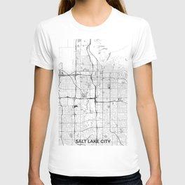 Salt Lake City Map Gray T-shirt