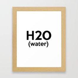 H20 (water) Framed Art Print
