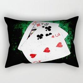 Blackjack Card Game, 21 Count, King Eight Three Combination Rectangular Pillow