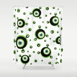 Justified Paranoia Green Shower Curtain