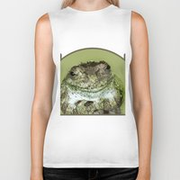 frog Biker Tanks featuring Frog by Kathleen Stephens
