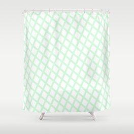 Lattice   Mint Shower Curtain