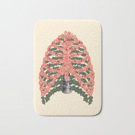 floral ribcage Bath Mat
