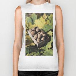 Fall still life italian walnut fruit Biker Tank