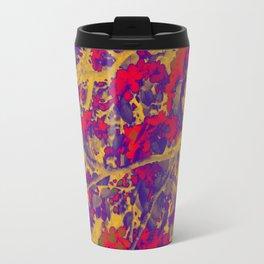 Modern Abstract Art Composition Multicolored Travel Mug