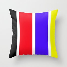 Happy on Colors Throw Pillow