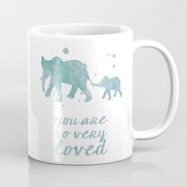 Elephant You Are So Very Loved Watercolor Painting Coffee Mug