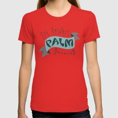 palm Womens Fitted Tee Red MEDIUM