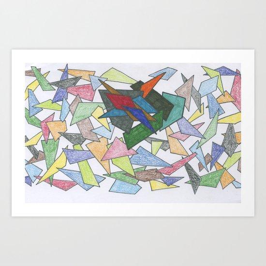 Shapes ... some bold Art Print