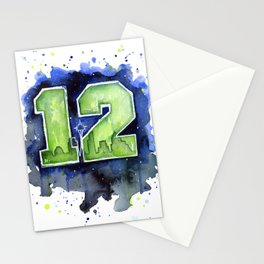 Seattle 12th Man Art Stationery Cards
