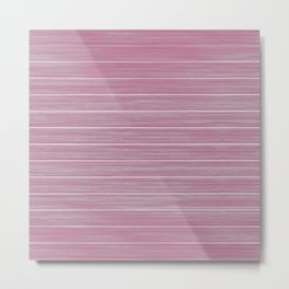 Bright Chalky Pastel Magenta Whitewashed Beach Hut Cladding Metal Print
