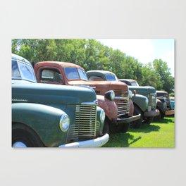 Antique Trucks in a Row Canvas Print