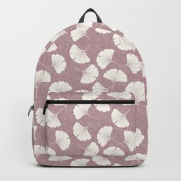 ginkgo leaves - mauve Backpack