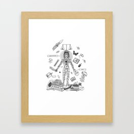 Behave Yourself Framed Art Print