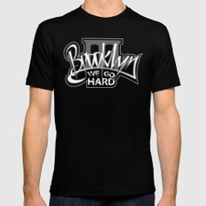 BROOKLYN SMALL Black Mens Fitted Tee