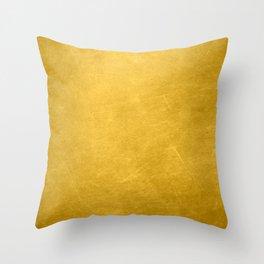 Sunshine Gold Spring Summer Throw Pillow