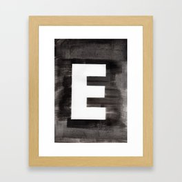 - E - Framed Art Print