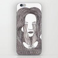 aquarius iPhone & iPod Skins featuring Aquarius by Samantha Dolan