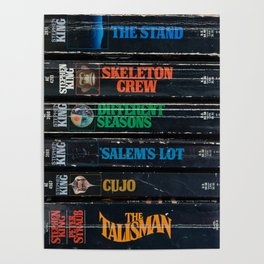 Stephen King Well-Worn Paperbacks Poster