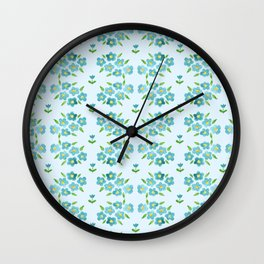 Country floral 1 Wall Clock