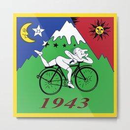 Bicycle Day 1943 Albert Hofmann LSD Metal Print
