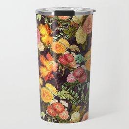 Autumn Flowers and Leaves Travel Mug