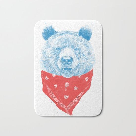 Wild bear (color version) Bath Mat