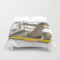 nightmare Duvet Covers featuring nightmare by Ancello
