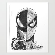 Spidey / Venom Portrait Art Print