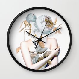 Inner beauty-collage 2 Wall Clock