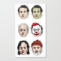 murray Canvas Prints featuring Murray by Matthew Brazier Illustration