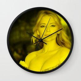 Haley Bennett - Celebrity (Florescent Color Technique) Wall Clock