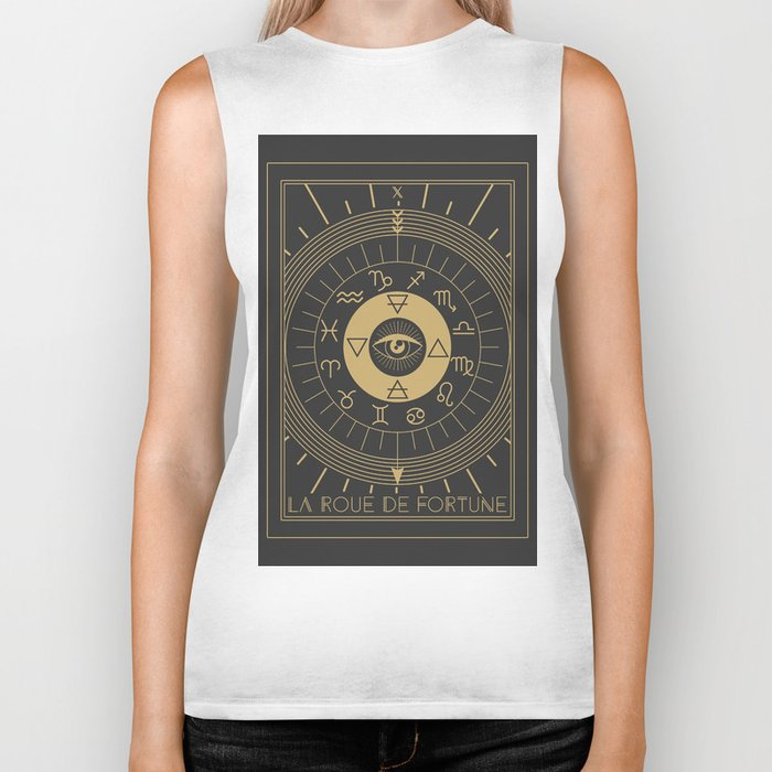 La Roue de Fortune or Wheel of Fortune Tarot Biker Tank