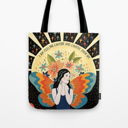Feeling lighter and lighter Tote Bag