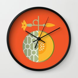 Fruit: Cantaloupe Wall Clock