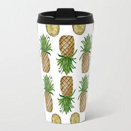 Watercolor Pineapples - repeat pattern Travel Mug