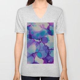 Purple and blue Unisex V-Neck