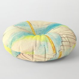Fantasy Stairs Watercolor Floor Pillow