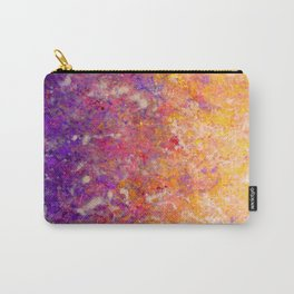 Abstract Art in Sunset Palette Purple Carry-All Pouch