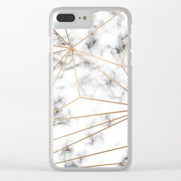 Marble & Gold 046 Clear iPhone Case