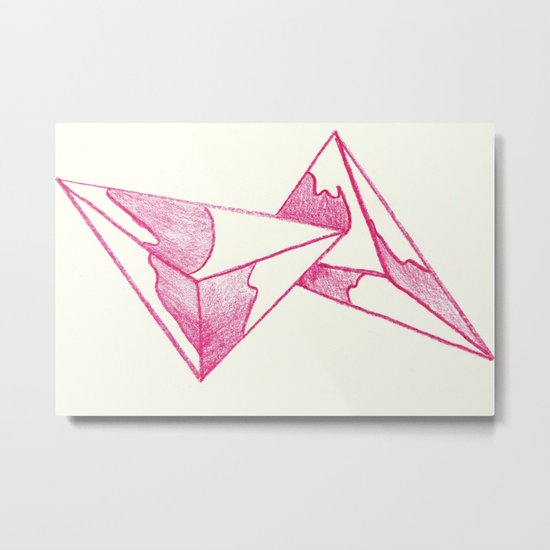 CRAYON LOVE: Strawberry Milk From The FUTURE Metal Print